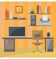 Modern office interior in flat design vector image vector image