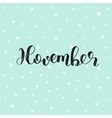 November Brush lettering vector image vector image