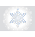 Paper snowflake with background vector image vector image