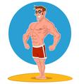Posing bodybuilder vector image vector image