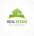 real estate logo village green vector image