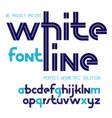 regular lower case english alphabet letters vector image