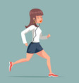 run female fitness girl woman sport character vector image