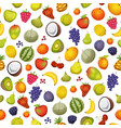 seamless fruit icons background vector image vector image