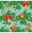 Seamless pattern with Christmas fir tree branches vector image vector image