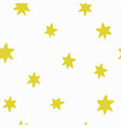 seamless pattern with hand drawn funny stars vector image