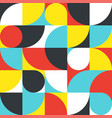 seamless red-blue-yellow abstract geometric print vector image vector image