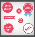 set of e-commerce design elements vector image vector image