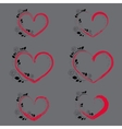 Set with Hearts and Climbing Rose vector image vector image
