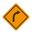 signal traffic turn right yellow vector image vector image