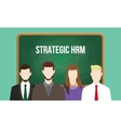 strategic hrm or human resource management concept vector image
