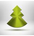 Tecnology Christmas tree icon with metal texture vector image vector image