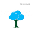 Tree Cloud Logo design template vector image
