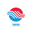 union communication logo concept design vector image