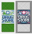 vertical banners for drug store vector image vector image
