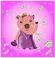wealthy Pig vector image