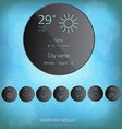Weather widget template vector image vector image