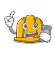with phone construction helmet character cartoon vector image vector image