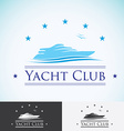 Yacht club logo design template sea cruise vector image vector image