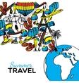 Travel Hand Drawn vector image