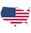 usa flag inside country border vector image