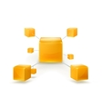 Structure of cubes icon vector image