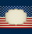 blank frame on america insignia vector image
