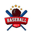 bat-and-ball game logotype with text brand vector image