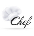 photorealistic modern white chef hat cooks hat vector image