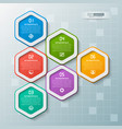 abstract 3d paper infographics business template vector image vector image