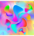 abstract background colorful amorphous shapes vector image vector image