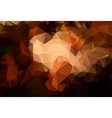 Abstract brown background polygon vector image vector image