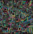 abstract city vector image vector image
