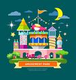 Amusement park concept design vector image vector image