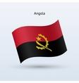 Angola flag waving form vector image vector image
