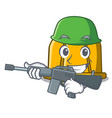army construction helmet character cartoon vector image