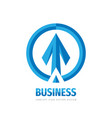 arrows business logo template design strategy vector image