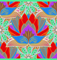 art inspigray red and blue style flowers and vector image