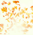 autumn composition with maple leaves eps 10 vector image vector image