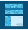 blue field floral texture horizontal stripe frame vector image vector image