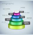 business 3d diagram template vector image