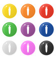 carrot icons set 9 colors isolated on white vector image vector image