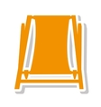 chair beach summer isolated icon vector image vector image