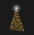 christmas tree as symbol of happy new year and vector image