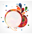 circular speech bubble vector image