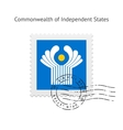 Commonwealth of Independent States Flag Postage vector image vector image