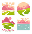 company nature and landscapes high mountains se vector image
