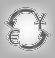 currency exchange sign dollar and euro vector image vector image