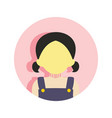 cute young girl people graphic vector image
