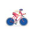 cyclist symbol vector image